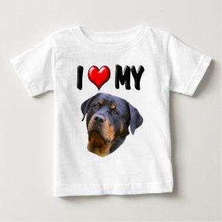 I Love My Rottweiler 3 Baby T-Shirt