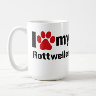 I Love My Rottweiler Coffee Mug