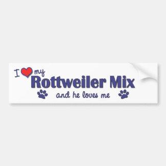 I Love My Rottweiler Mix (Male Dog) Bumper Sticker