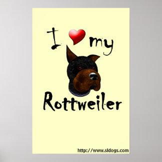 I Love My Rottweiler Poster