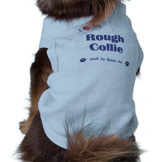I Love My Rough Collie Male Dog Pet Tee