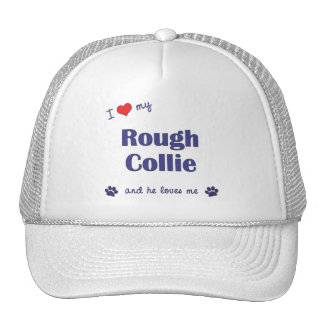I Love My Rough Collie (Male Dog) Mesh Hats