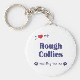 I Love My Rough Collies (Multiple Dogs) Key Ring