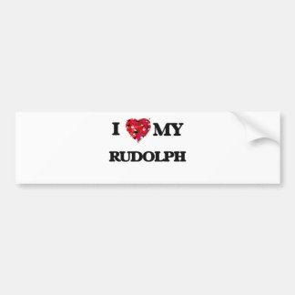 I love my Rudolph Bumper Sticker