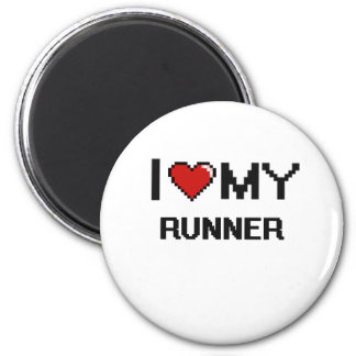 I love my Runner 6 Cm Round Magnet