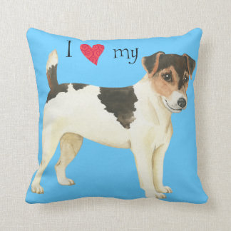I Love my Russell Terrier Throw Cushions