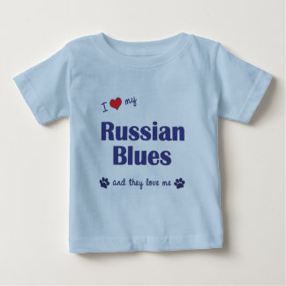 I Love My Russian Blues (Multiple Cats) Baby T-Shirt