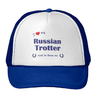 I Love My Russian Trotter (Male Horse) Cap