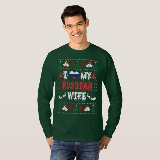 I Love My Russian Wife Ugly Christmas Sweater