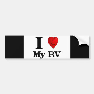 I Love My RV Bumper Sticker