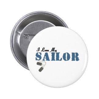 I Love My Sailor 6 Cm Round Badge