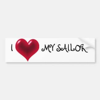 I    LOVE   MY SAILOR BUMPER STICKER