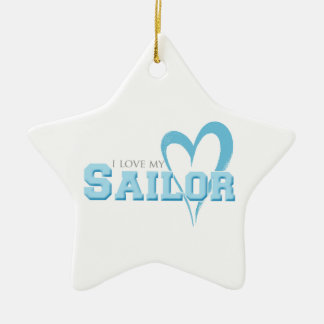 I love my Sailor Christmas Ornament