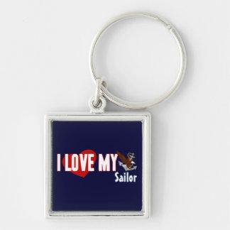 I Love My Sailor Key Chains