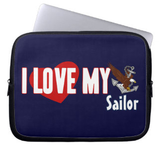I Love My Sailor Laptop Computer Sleeves