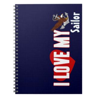 I Love My Sailor Notebooks