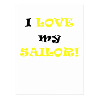 I Love my Sailor Postcard