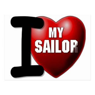 I Love My Sailor - US Navy Postcards
