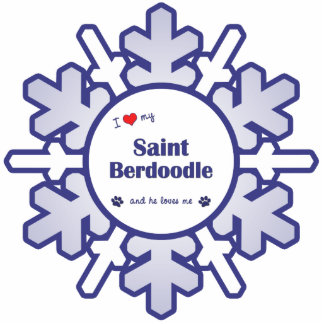 I Love My Saint Berdoodle (Male Dog) Photo Sculpture Decoration