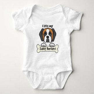 I Love My Saint Bernard Baby Bodysuit