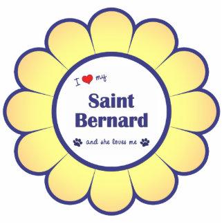 I Love My Saint Bernard (Female Dog) Photo Sculpture Decoration