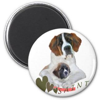 I Love My Saint Bernard Merchandise 6 Cm Round Magnet