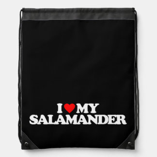 I LOVE MY SALAMANDER CINCH BAG