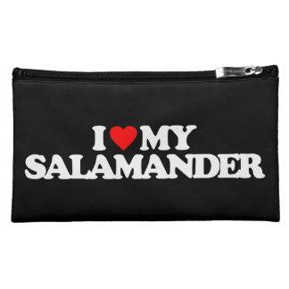 I LOVE MY SALAMANDER COSMETICS BAGS