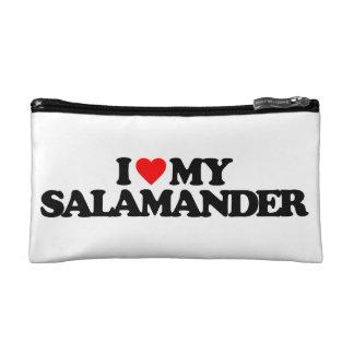 I LOVE MY SALAMANDER COSMETIC BAGS
