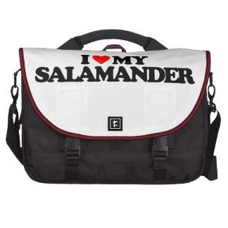 I LOVE MY SALAMANDER COMPUTER BAG