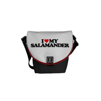 I LOVE MY SALAMANDER MESSENGER BAGS