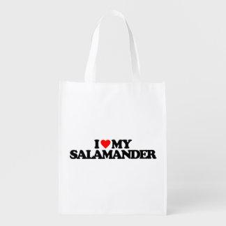 I LOVE MY SALAMANDER MARKET TOTE