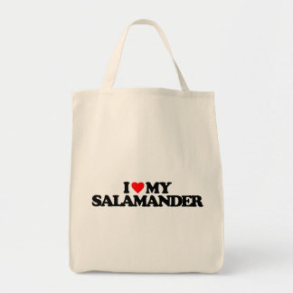 I LOVE MY SALAMANDER CANVAS BAG