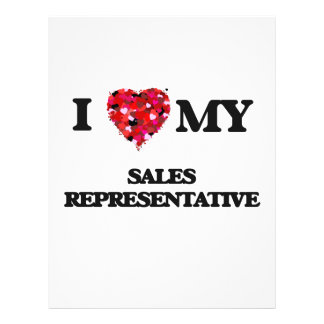 I love my Sales Representative 21.5 Cm X 28 Cm Flyer