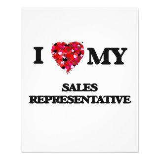 I love my Sales Representative 11.5 Cm X 14 Cm Flyer