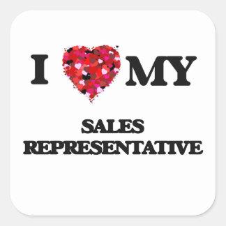 I love my Sales Representative Square Sticker