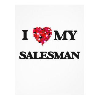 I love my Salesman 21.5 Cm X 28 Cm Flyer