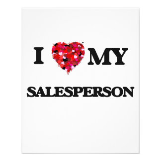 I love my Salesperson 11.5 Cm X 14 Cm Flyer