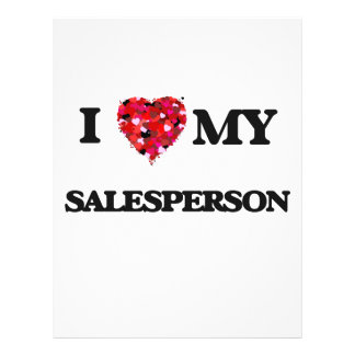 I love my Salesperson 21.5 Cm X 28 Cm Flyer