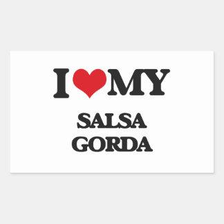 I Love My SALSA GORDA Stickers