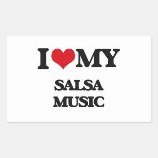 I Love My SALSA MUSIC Rectangle Sticker