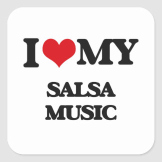 I Love My SALSA MUSIC Stickers