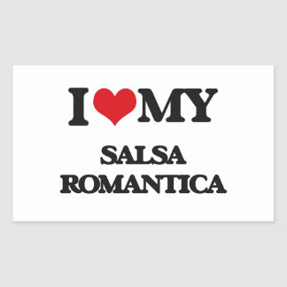 I Love My SALSA ROMANTICA Stickers
