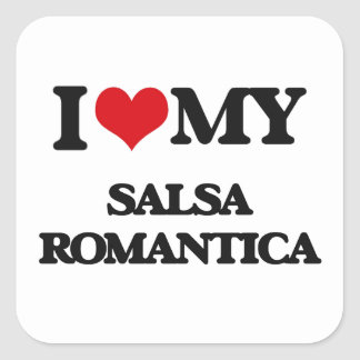 I Love My SALSA ROMANTICA Square Sticker