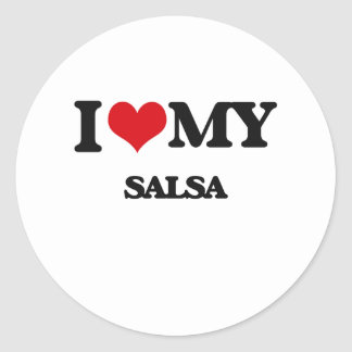 I Love My SALSA Round Sticker