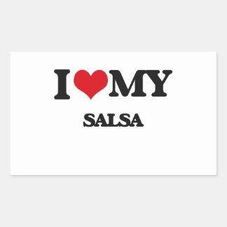 I Love My SALSA Rectangle Sticker