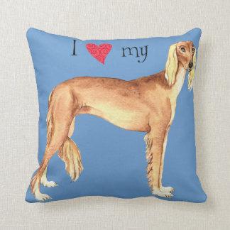 I Love my Saluki Cushion