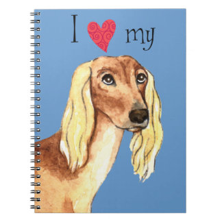 I Love my Saluki Notebooks