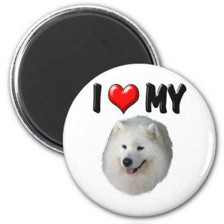 I Love My Samoyed Fridge Magnets