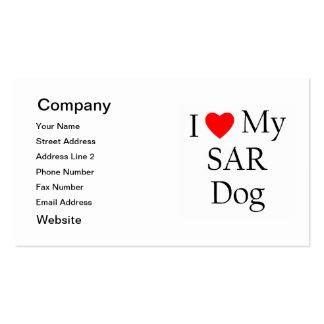 I Love My SAR Dog Business Cards